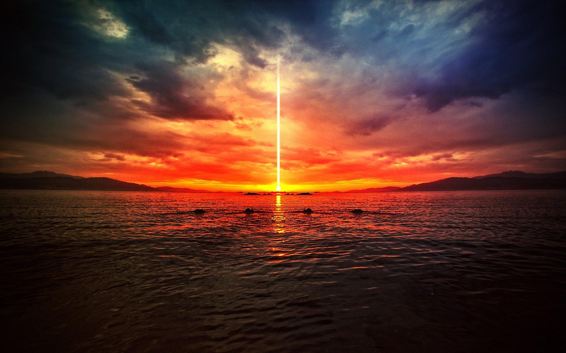 на смотри на горизонт в ожидании конца света
